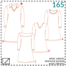 165, Basiskleid: 1 - einfach