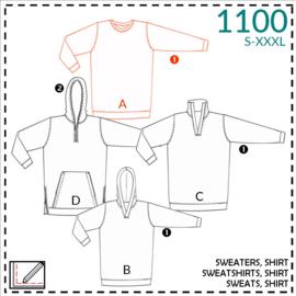 1100, shirt: 1 - makkelijk