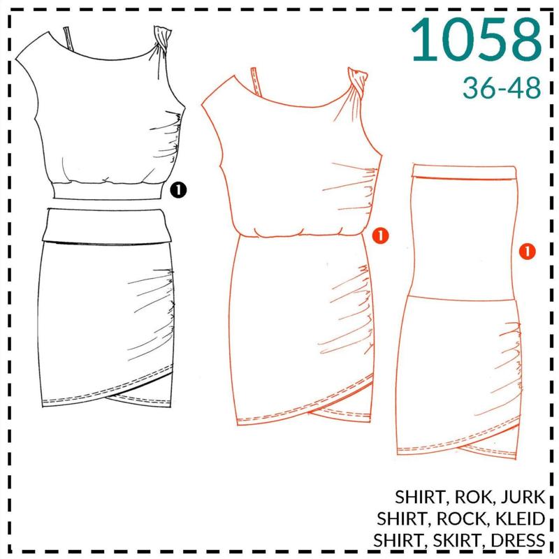 1058, jurk: 1 - makkelijk
