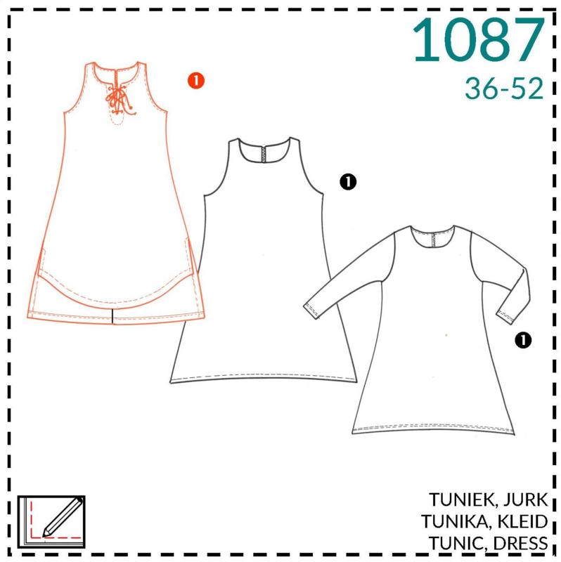 1087, jurk: 1 - makkelijk