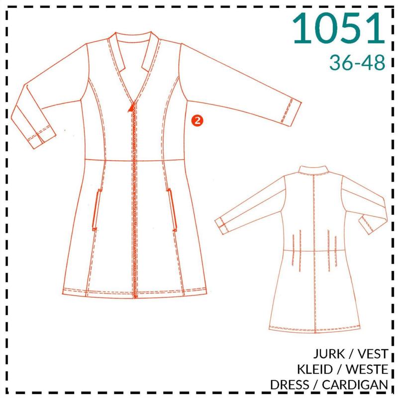 1051, vest/jurk: 2 - beetje ervaring