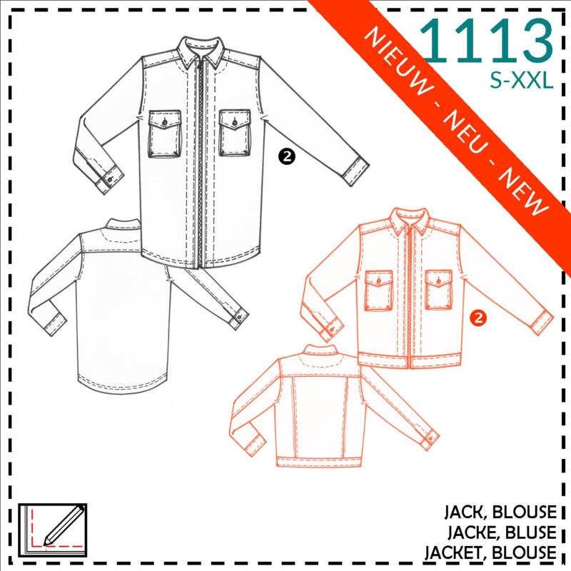 1113, blouse: 2 - beetje ervaring