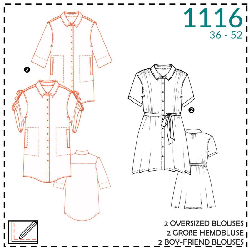 1116, boy-friend blouse: 2 - beetje ervaring