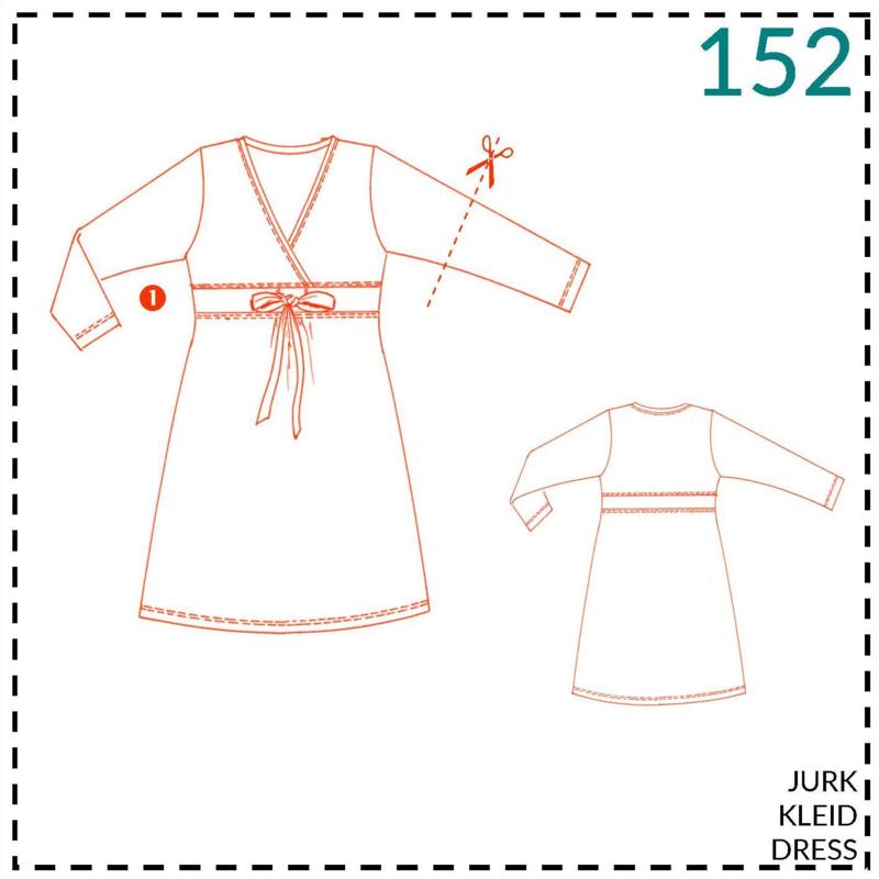 152, jurk: 1 - makkelijk