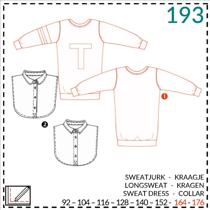 193, lange sweater:  1 - makkelijk