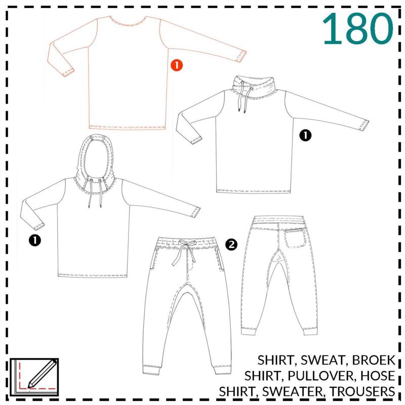 180, shirt: 1 - makkelijk
