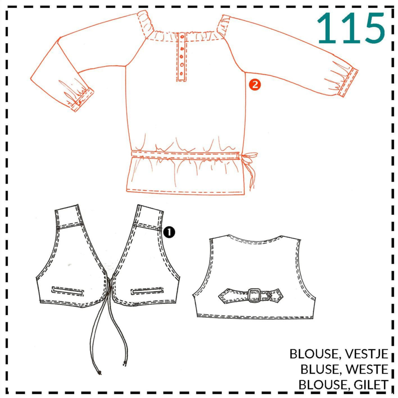 115, blouse: 2 - beetje ervaring