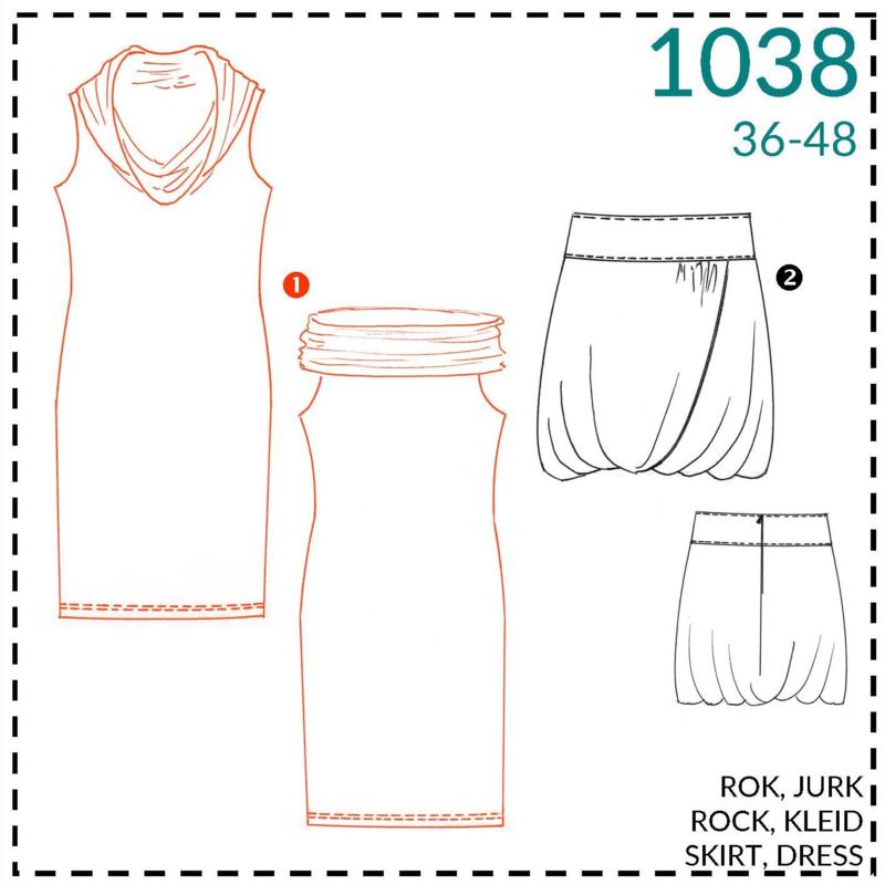 1038, jurk: 1 - makkelijk