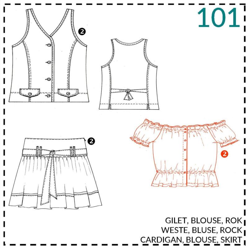 101, blouse: 2 - beetje ervaring