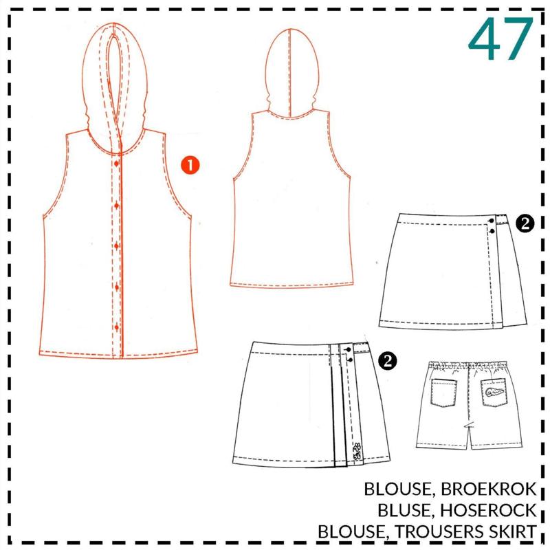 47, blouse: 1 - makkelijk