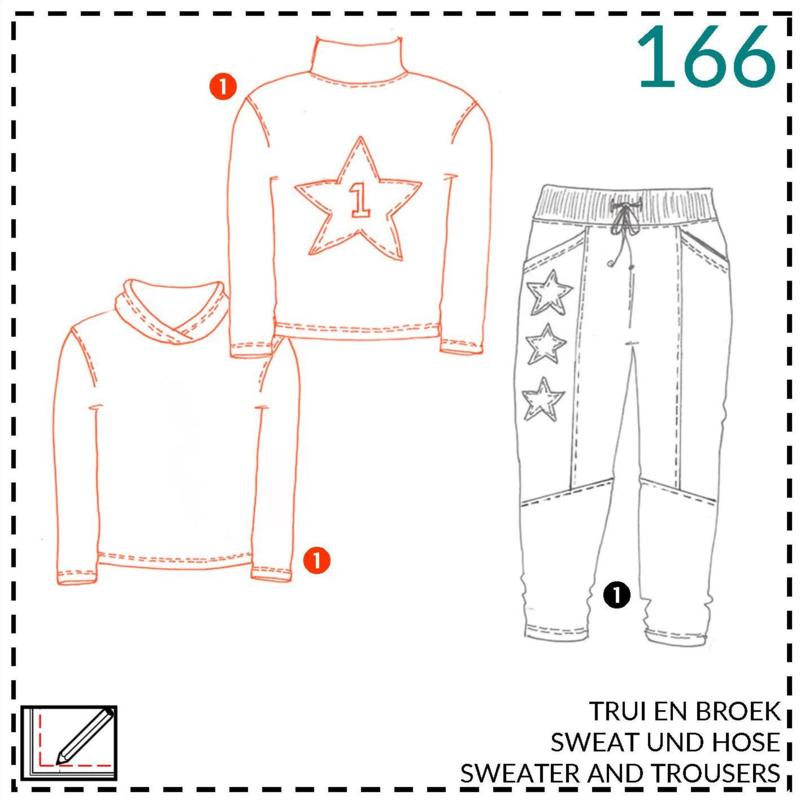166, Sweater: 1 - einfach