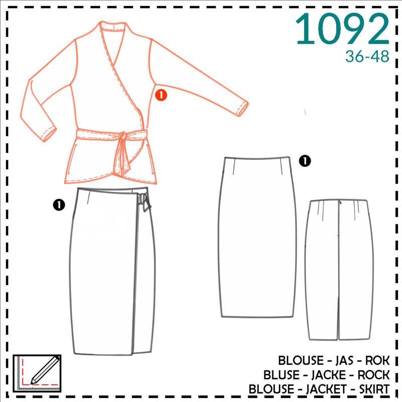 1092, blouse: 1 - makkelijk