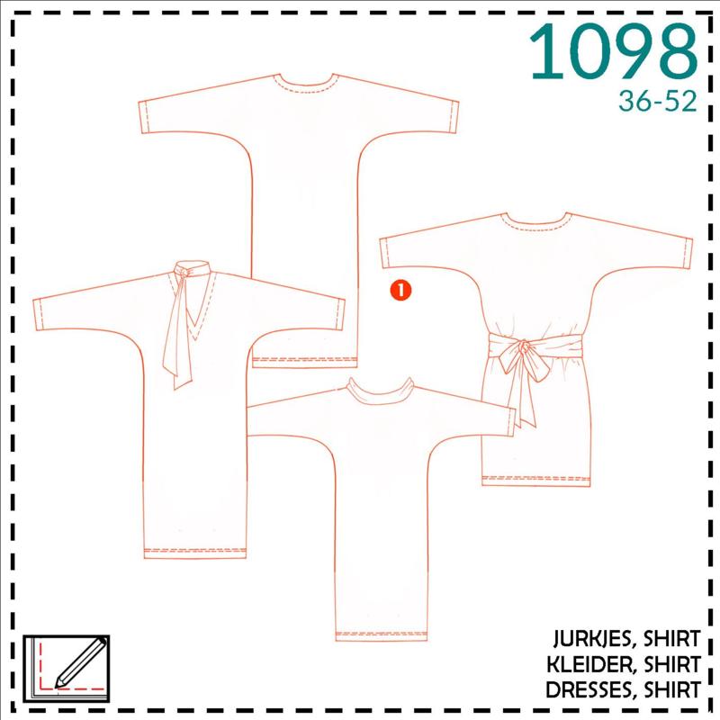 1098, jurk: 1 - makkelijk