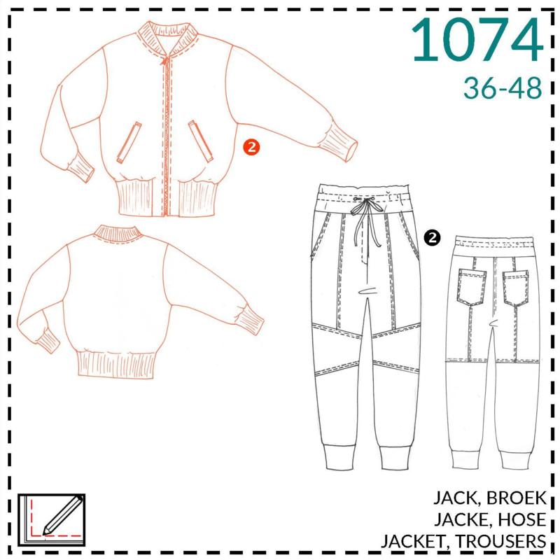 1074, Jacke: 2 - etwas Näherfahrung