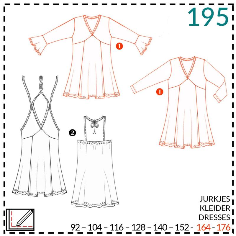 195, jurkjes:  1 - makkelijk