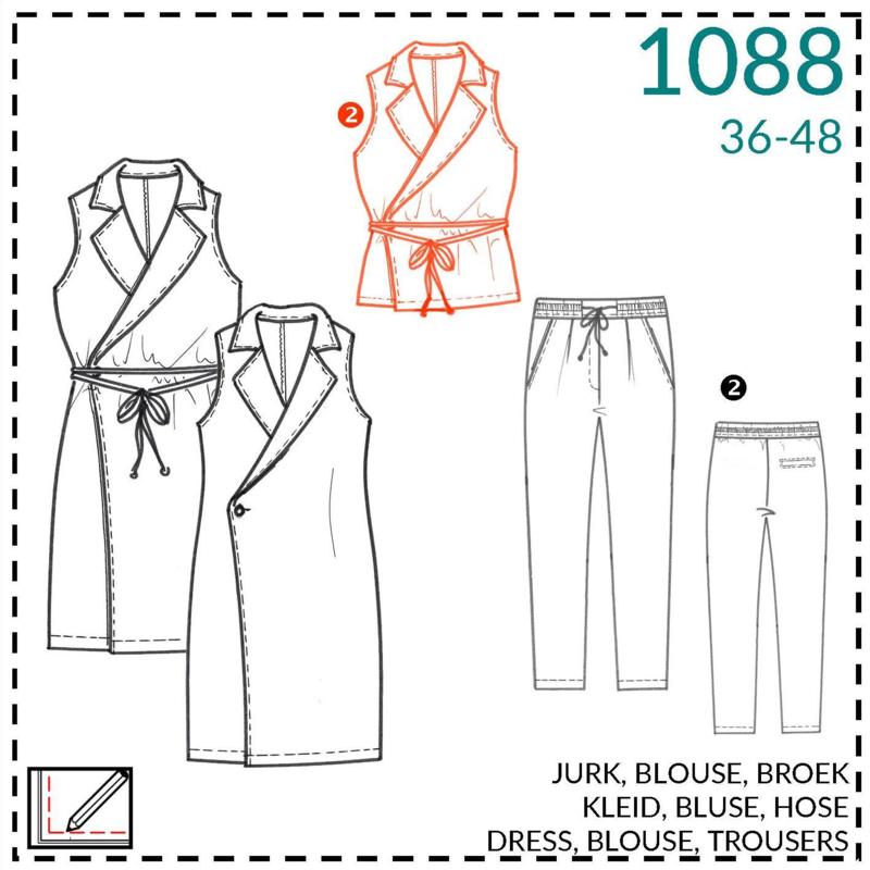 1088, blouse: 2 - beetje ervaring