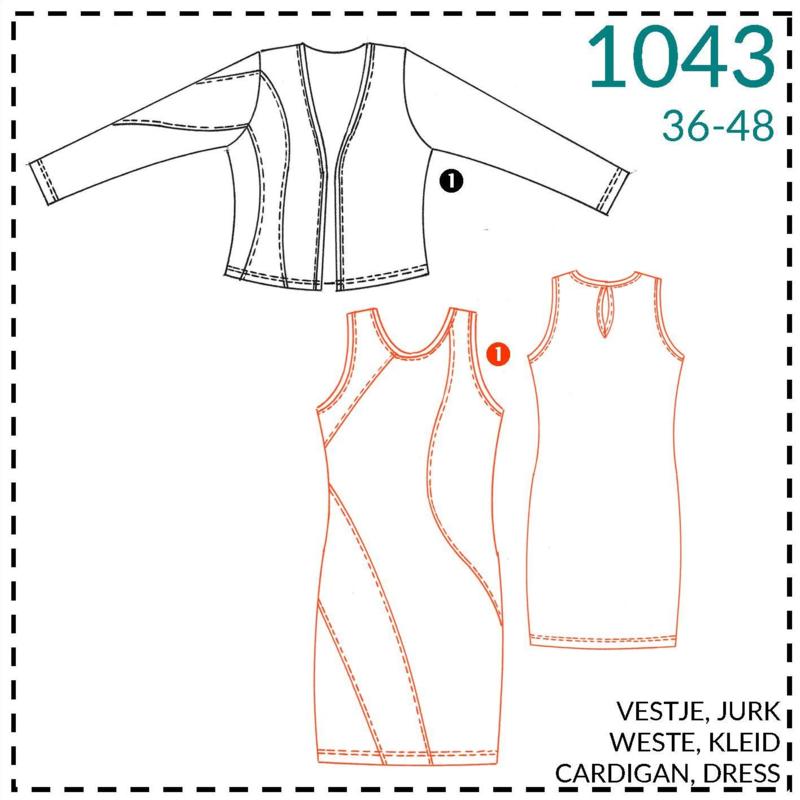 1043, jurk: 1 - makkelijk