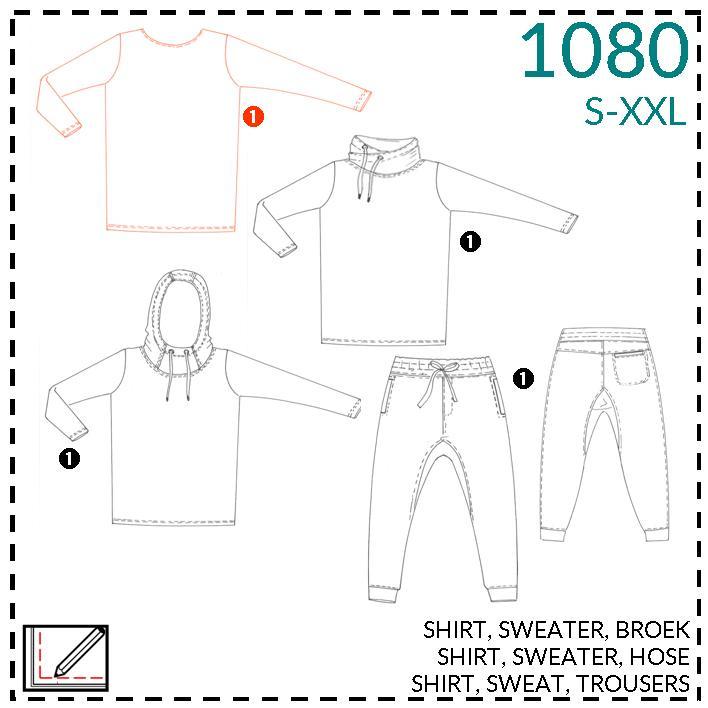 1080, t-shirt: 1 - makkelijk