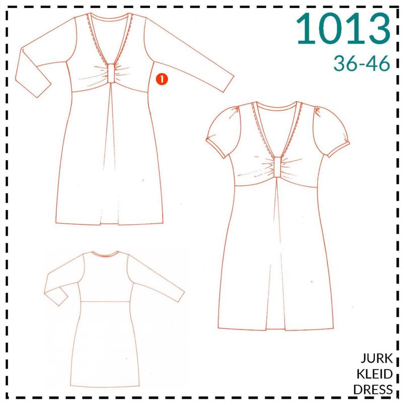 1013, jurk: 1 - makkelijk