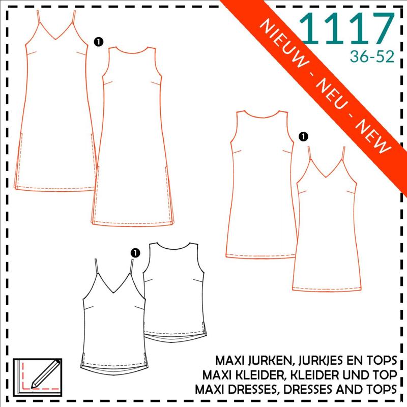1117, maxi jurken / jurken: 1 - makkelijk