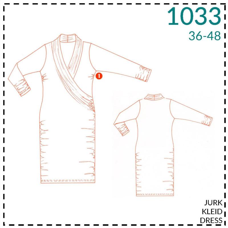 1033, jurk: 1 makkelijk