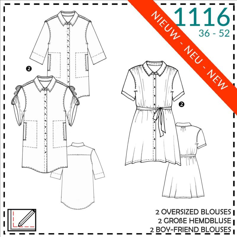 1116, oversized blouses: 2 - beetje ervaring