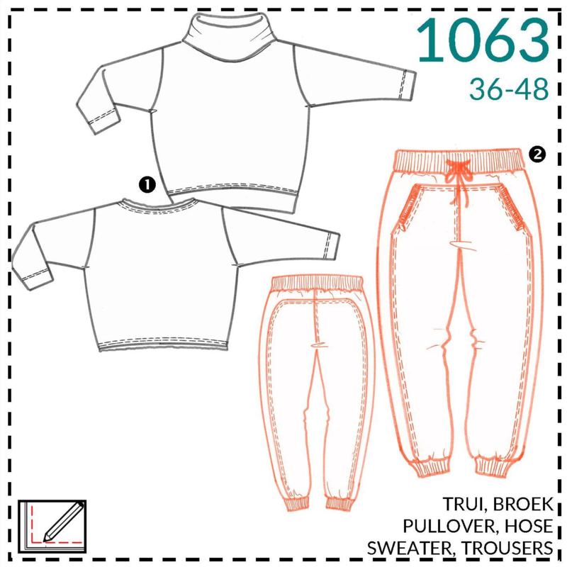 1063, lounge trousers: 2 - little experience