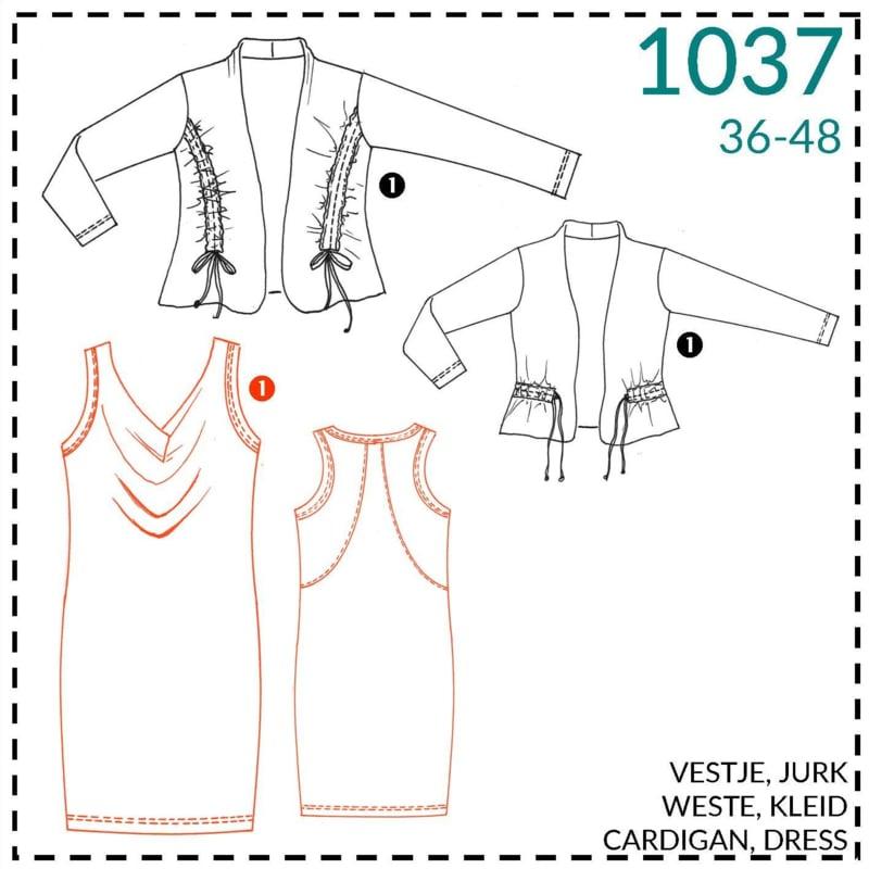 1037, Kleid: 1 - einfach