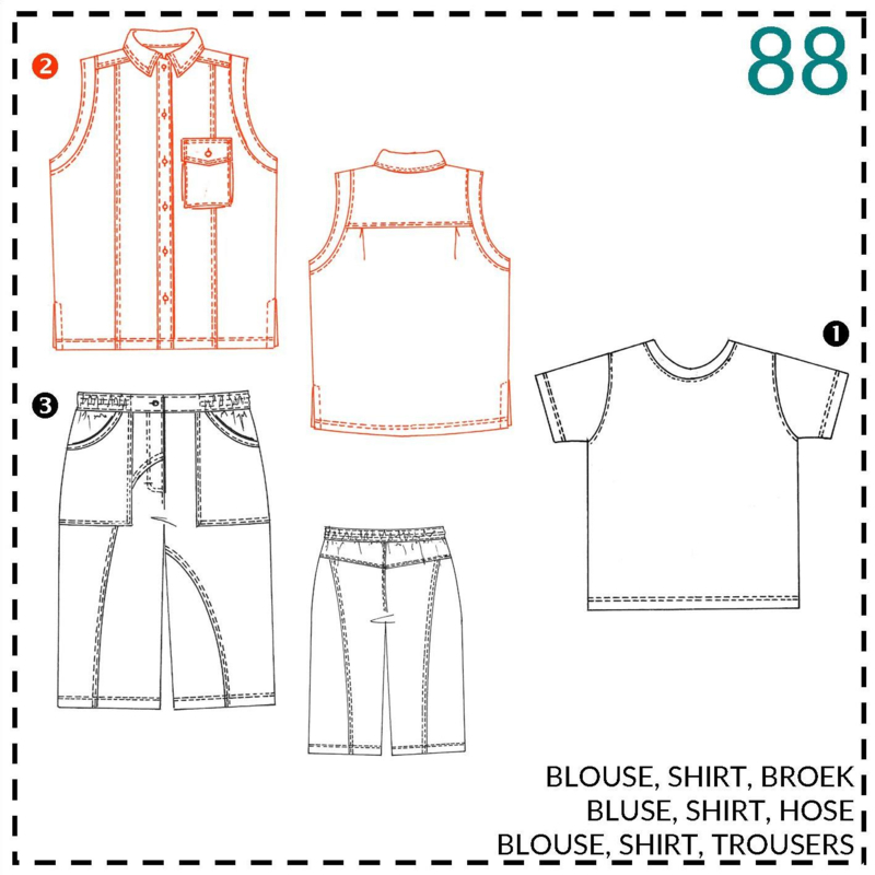 88, blouse: 2 - beetje ervaring