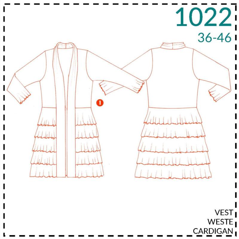 1022, Weste: 1 - einfach