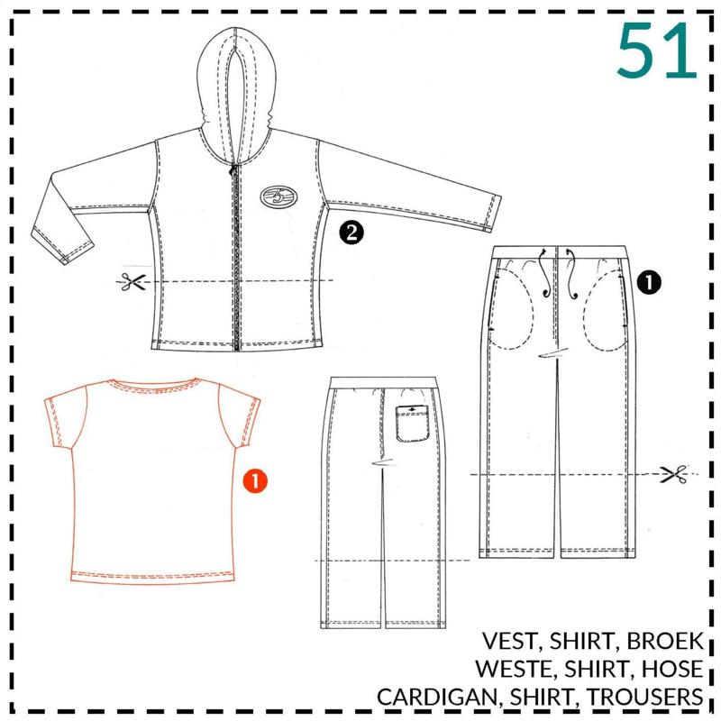 51, basic T-shirt: 1 - makkelijk