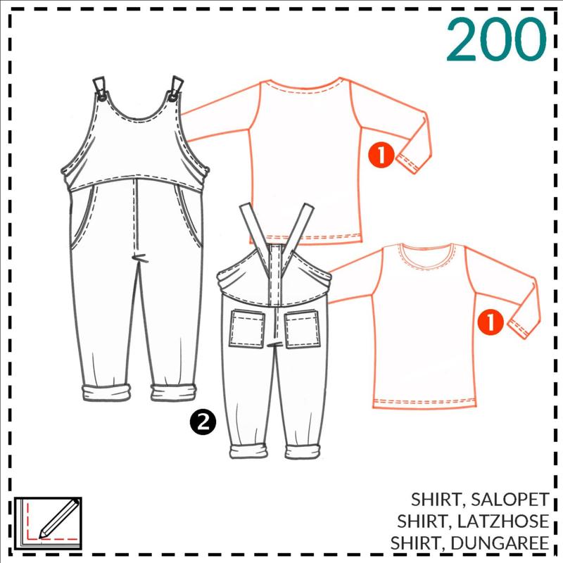 200, shirt: 1 - makkelijk