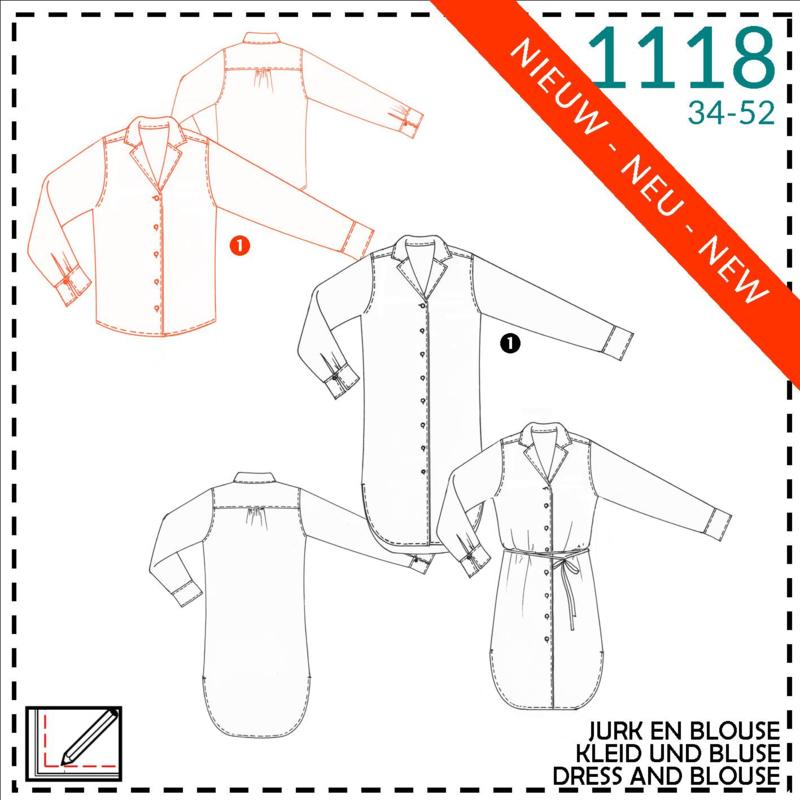 1118, blouse: 1 - makkelijk