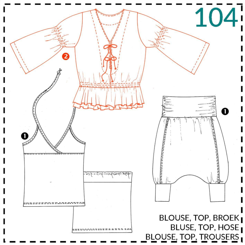 104, blouse: 2 - beetje ervaring