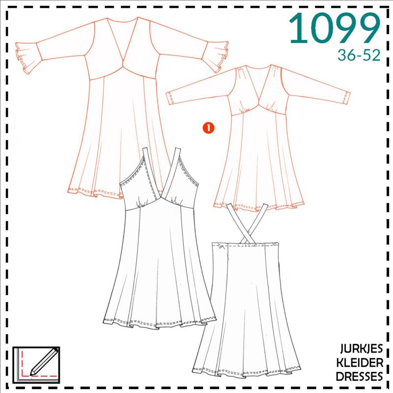 1099, jurk: 1 - makkelijk