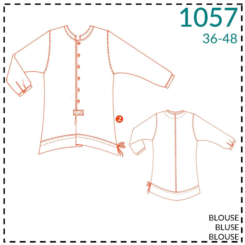 1057, Bluse: 2 - etwas Näherfahrung