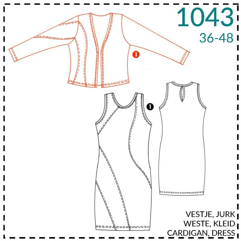 1043, Weste: 1 - einfach
