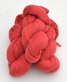 6/2-1161 Laxrosa på vit ull