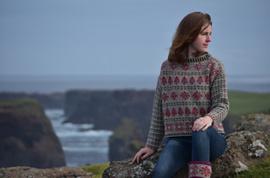 """Trui """"Shetland breien"""" in Trollenwol Shetland"""