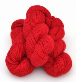 6/3-1101 Röd på vit ull