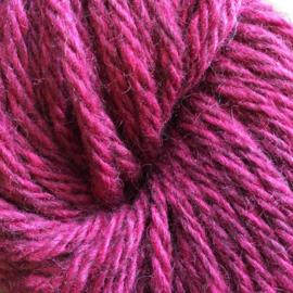 Sorte Får Pelsullgarn mørk rosa