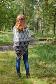 Uradale shawl natuurtinten