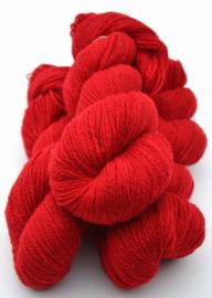 6/2-1101 Röd på vit ull