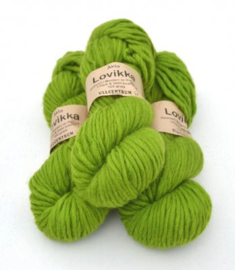 Lovikka - Lime on white wool 3141
