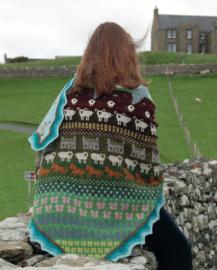 Patroon Shetland shawl, baret en gauntlets NL