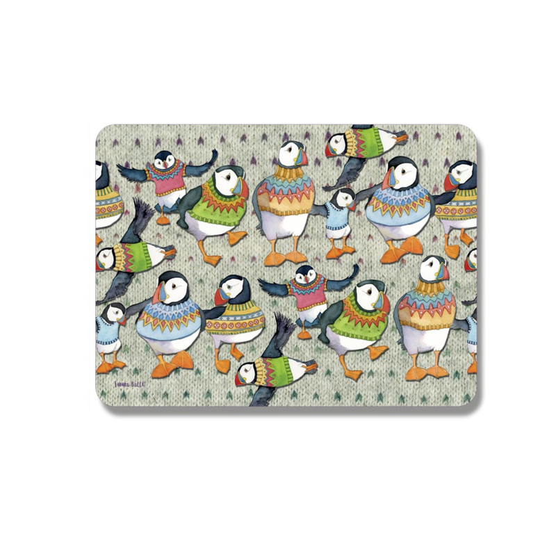 Emma Ball - Woolly Puffins placemat