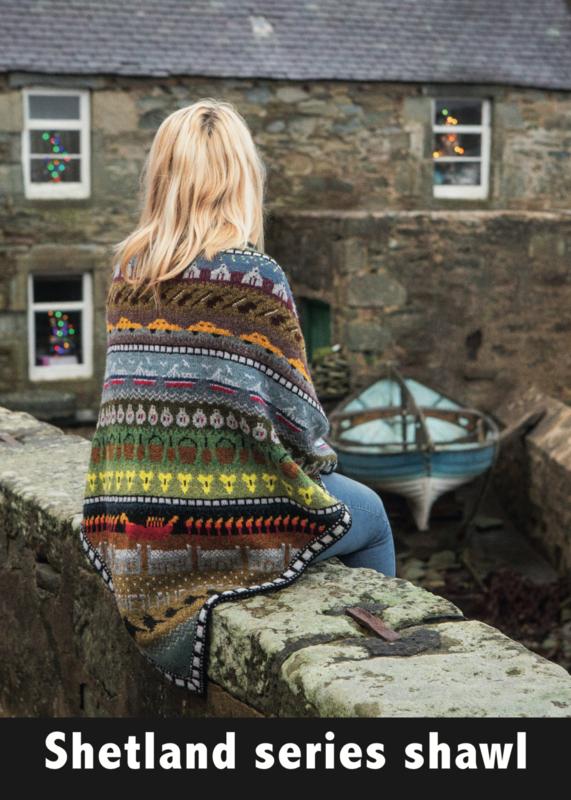 Shetland series shawl (EN)