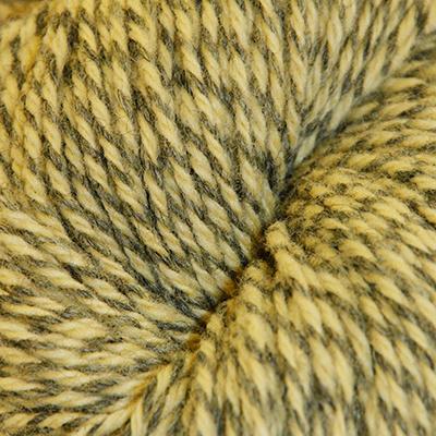 Fjell – Sokkegarn 3, gul/grå molinert