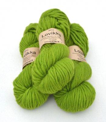 Lovikka - Lime on white wool 3141