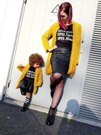 Lang damesvest Mustard